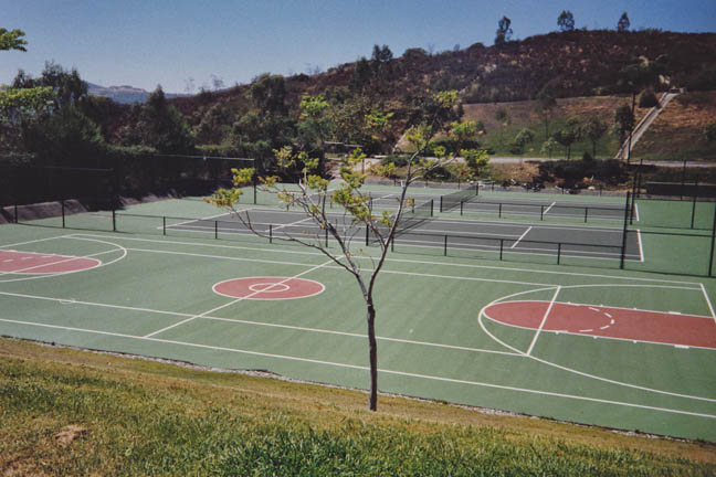 Curtis School - Tennis & Basketball Courts