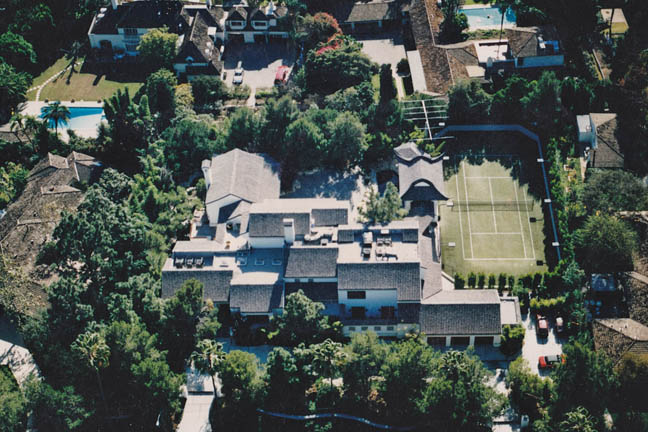 Synthetic Grass Tennis Court - Beverly Hills, CA