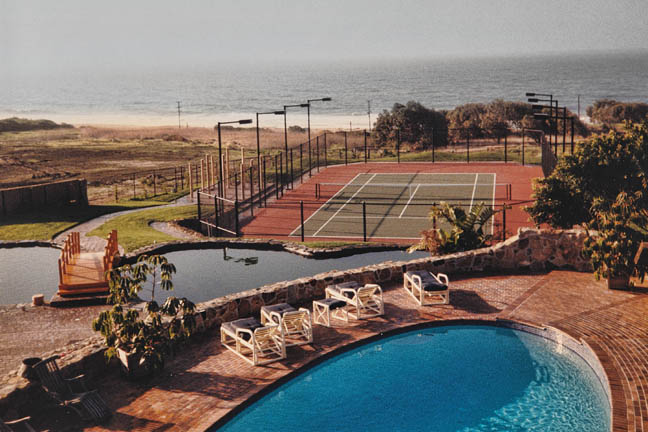 Swimmg and Tennis by the Sea