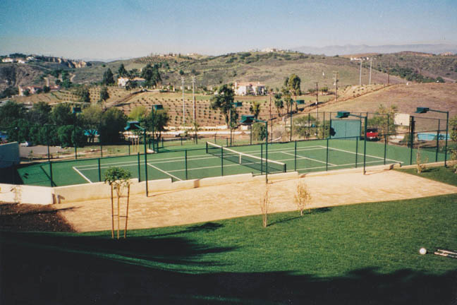 Backyard Tennis and Game Court