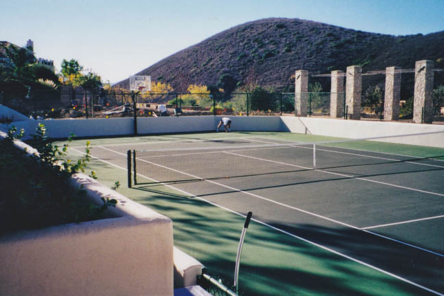 This backyard court is great for Tennis, Basketball and so much more...